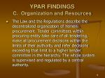 ypar findings c organization and resources