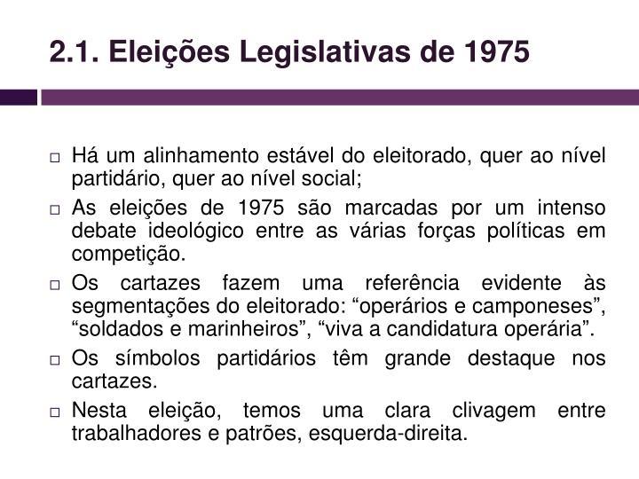 2.1. Eleições Legislativas de 1975