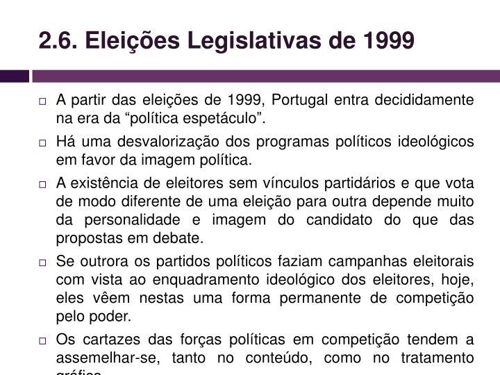 2.6. Eleições Legislativas de 1999