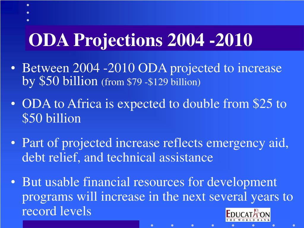 ODA Projections 2004 -2010