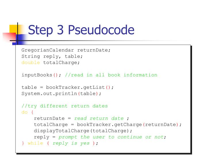 Step 3 Pseudocode