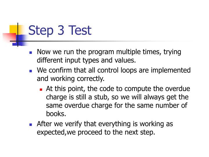 Step 3 Test