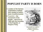 populist party is born