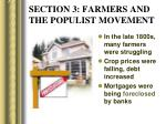 section 3 farmers and the populist movement