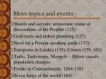 more topics and events