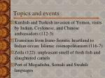 topics and events