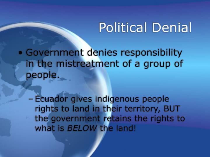 Political Denial