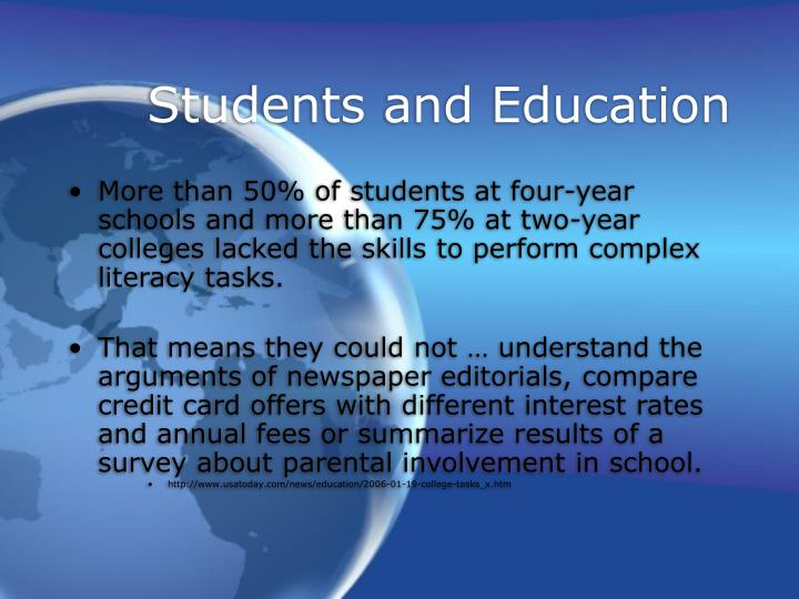 Students and Education