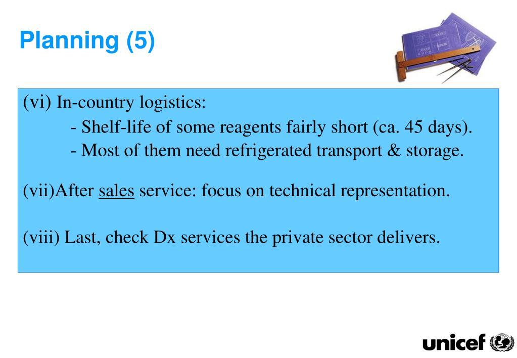 Planning (5)