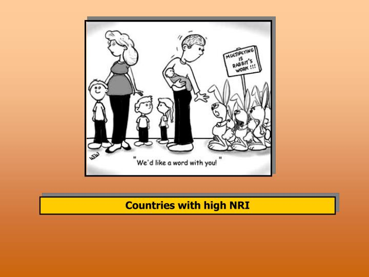 Countries with high NRI