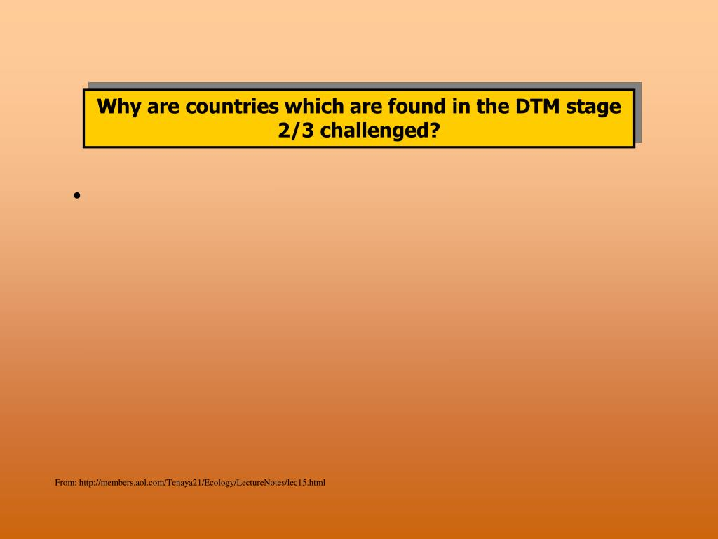 Why are countries which are found in the DTM stage 2/3 challenged?