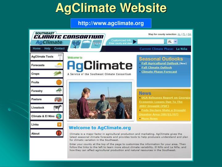 AgClimate Website
