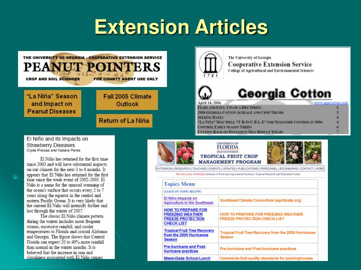 Extension Articles