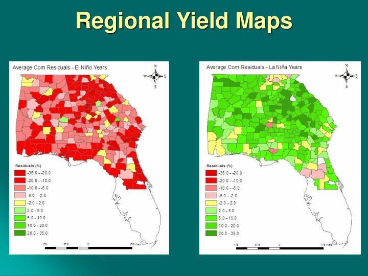 Regional Yield Maps