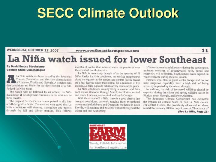 SECC Climate Outlook