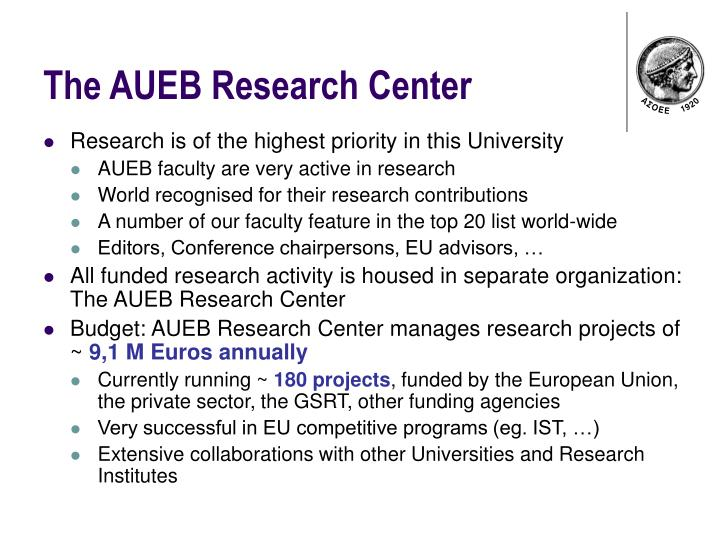 The AUEB Research Center