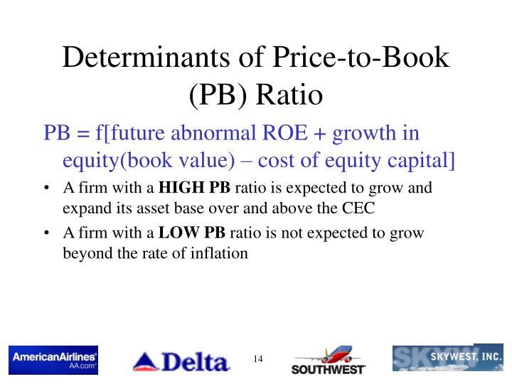 valuation ratios in the airline industry On measures such as cash flow muitiples and the price/book ratio price/ eamings  ratios  valuation is getting more difficult in the airline industry derchin and.