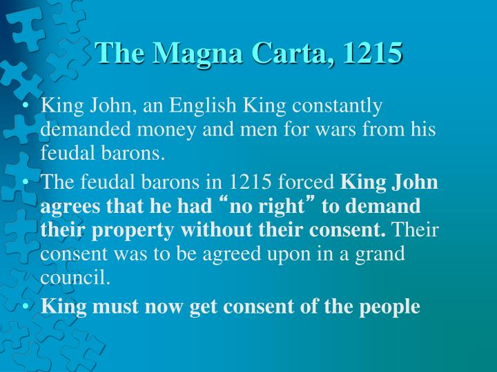 The Magna Carta, 1215