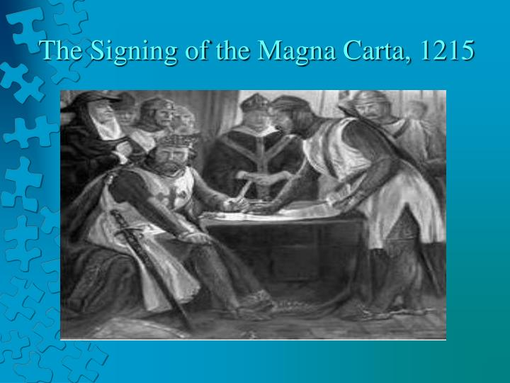The signing of the magna carta 1215