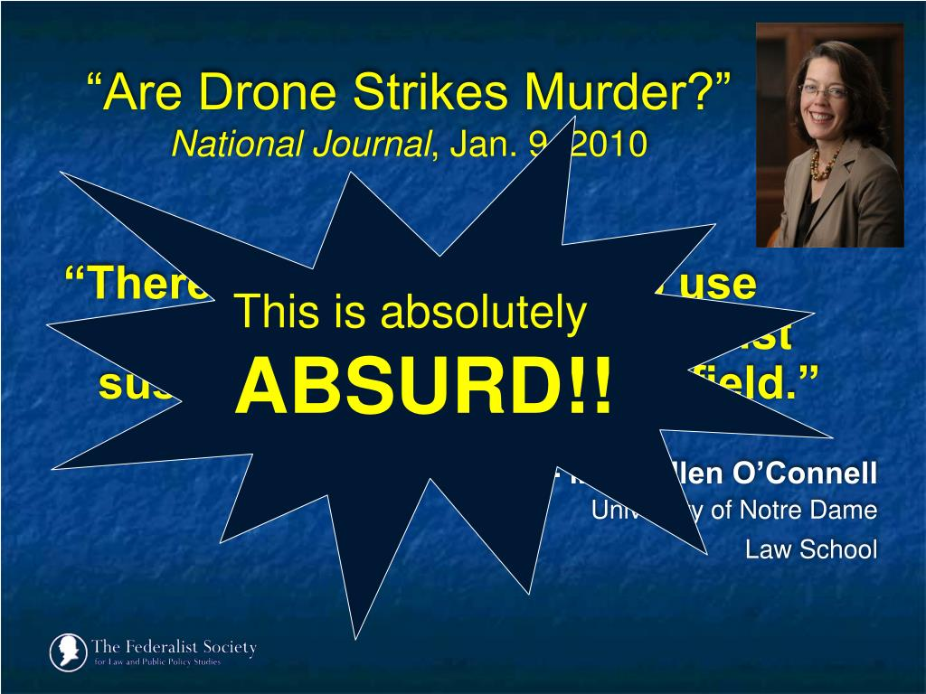 """Are Drone Strikes Murder?"""