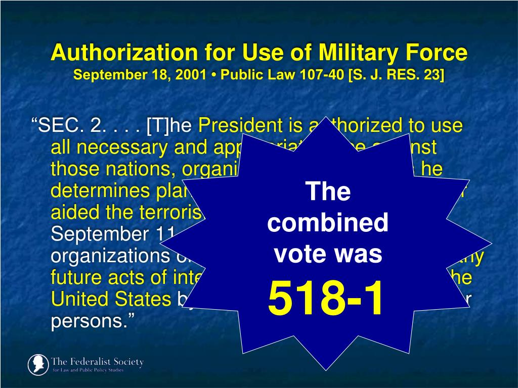 Authorization for Use of Military Force