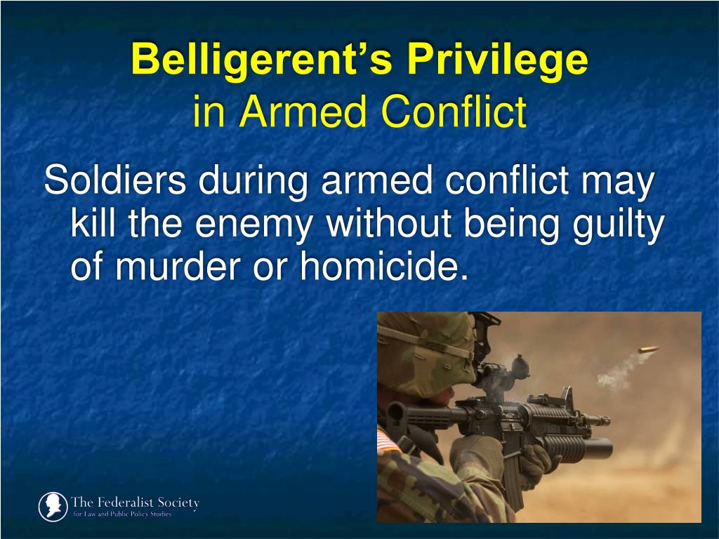 Belligerent's Privilege