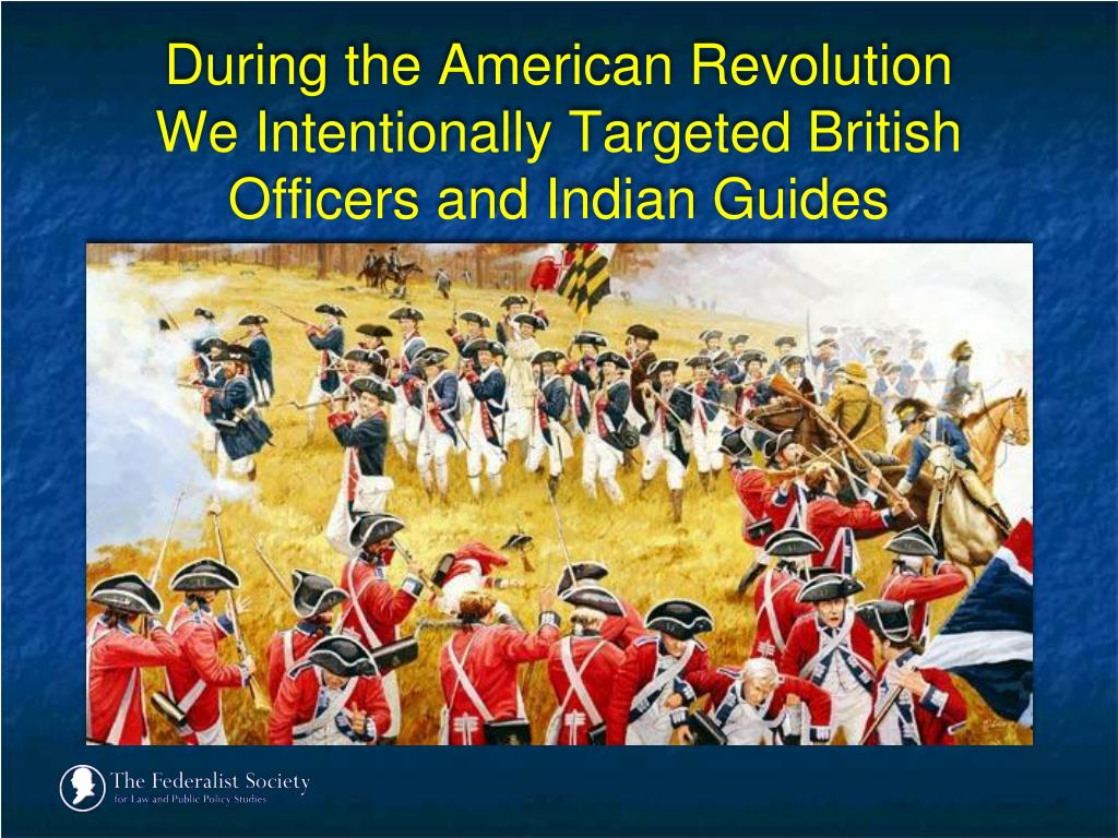 During the American Revolution