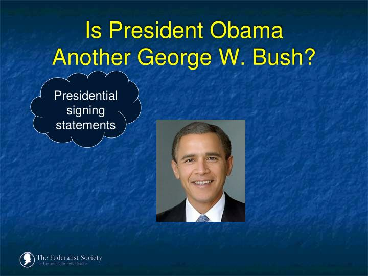 Is president obama another george w bush3