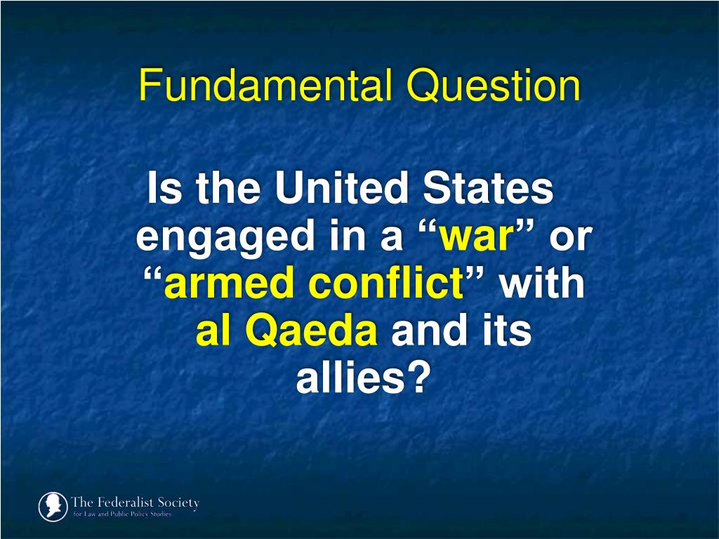Is the United States engaged in a ""