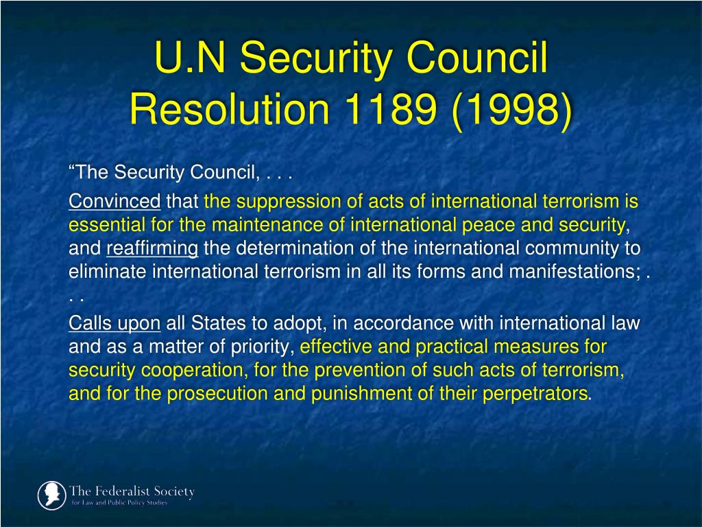U.N Security Council