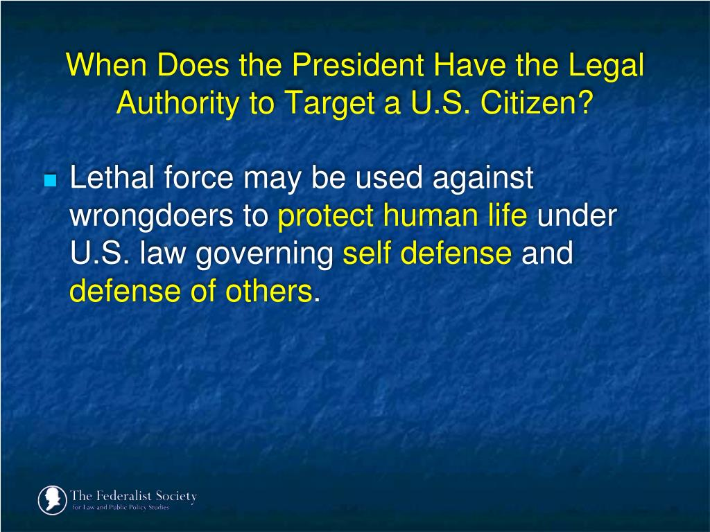 When Does the President Have the Legal Authority to Target a U.S. Citizen?