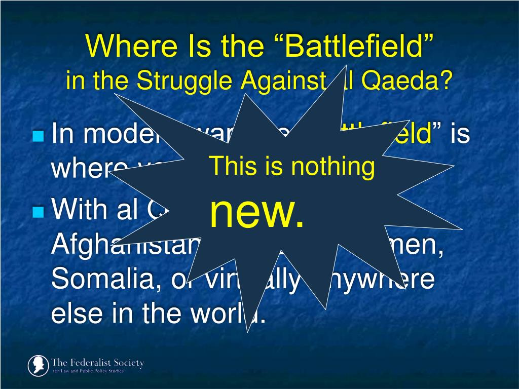 "Where Is the ""Battlefield"""