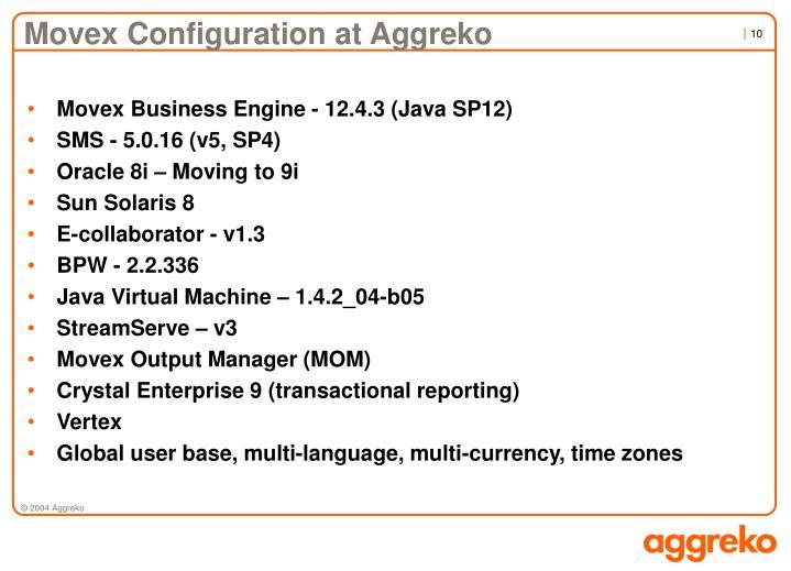 Movex Configuration at Aggreko
