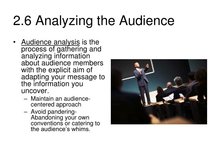 2 6 analyzing the audience