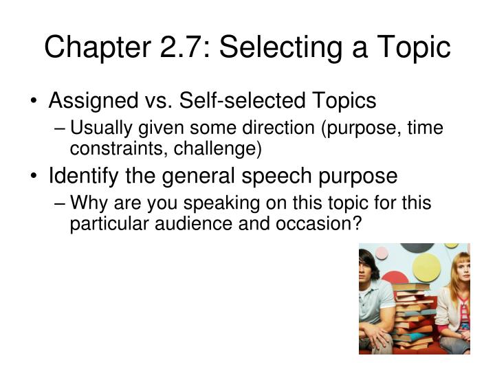 Chapter 2.7: Selecting a Topic