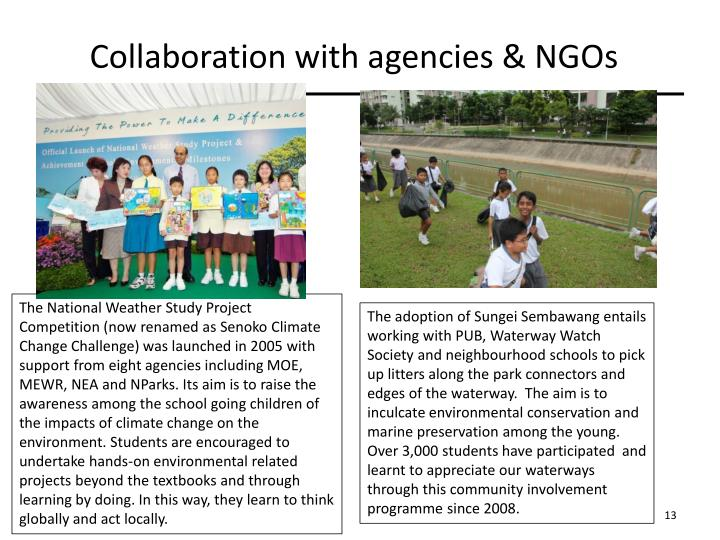Collaboration with agencies & NGOs