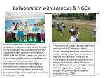 collaboration with agencies ngos