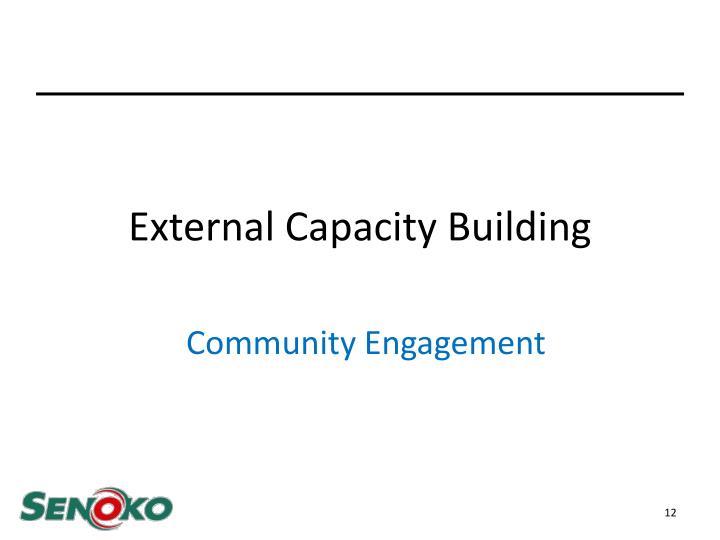 External Capacity Building