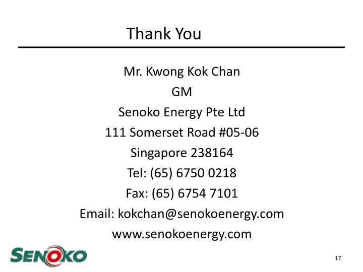 Mr. Kwong Kok Chan