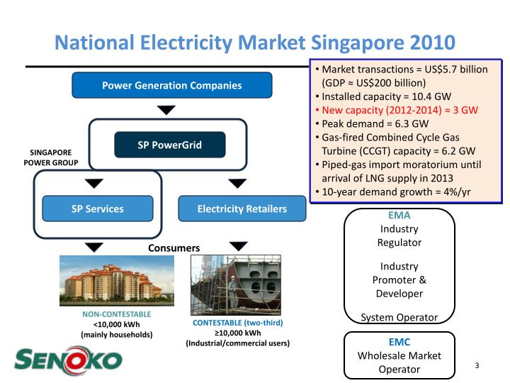 National Electricity Market Singapore 2010