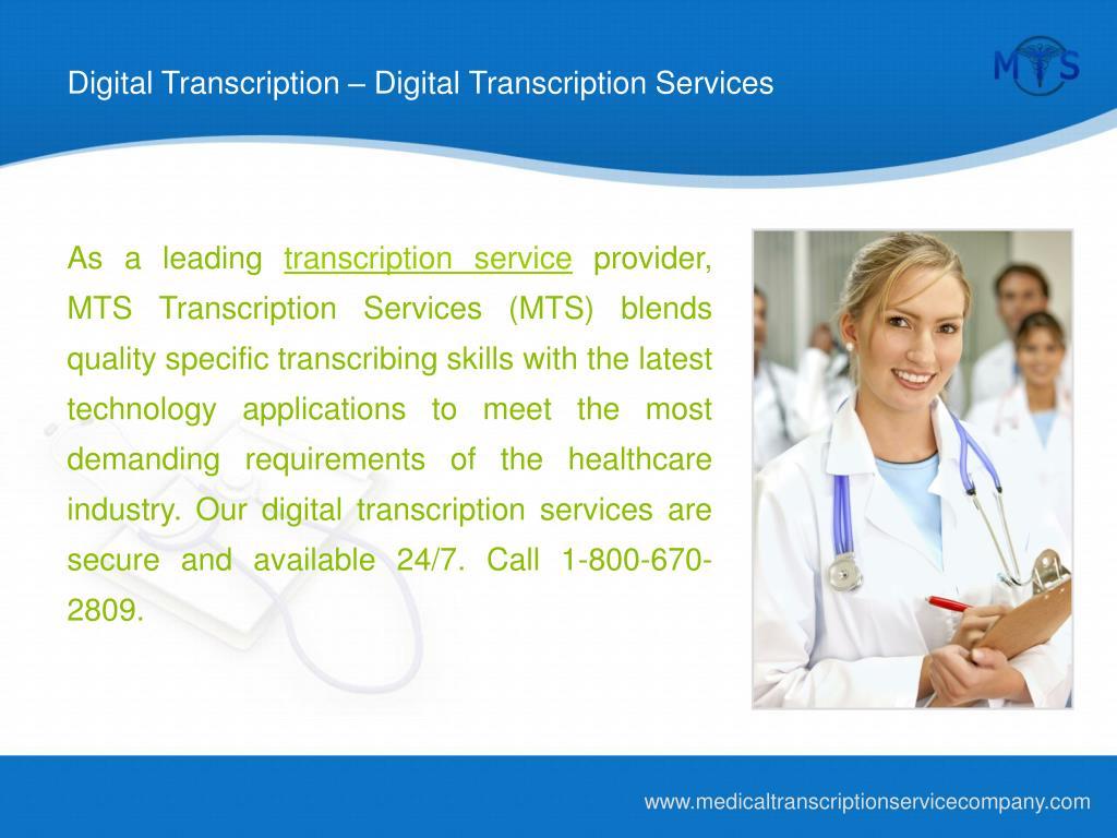 Digital Transcription – Digital Transcription Services