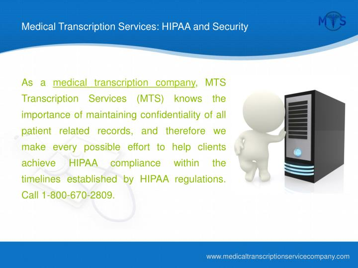 Medical transcription services hipaa and security l.jpg