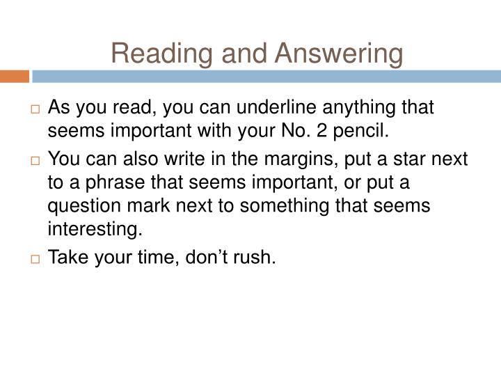 Reading and Answering