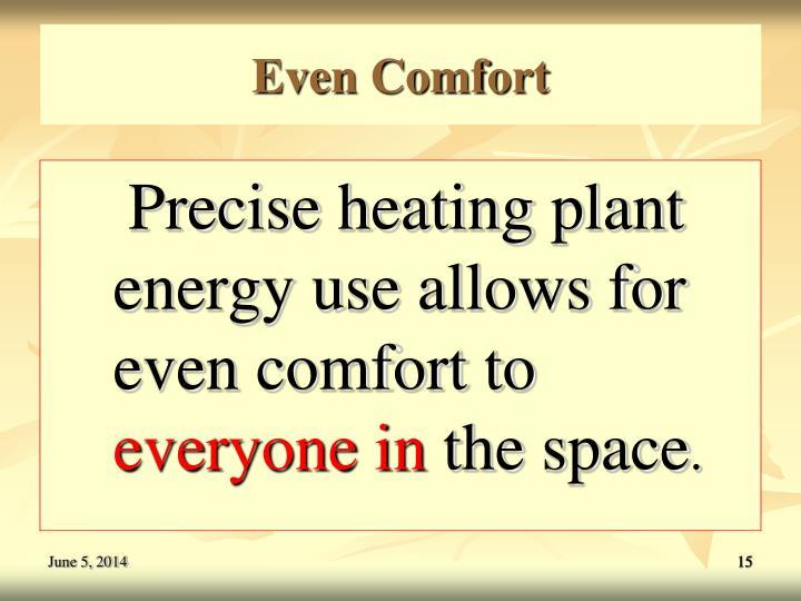 Even Comfort