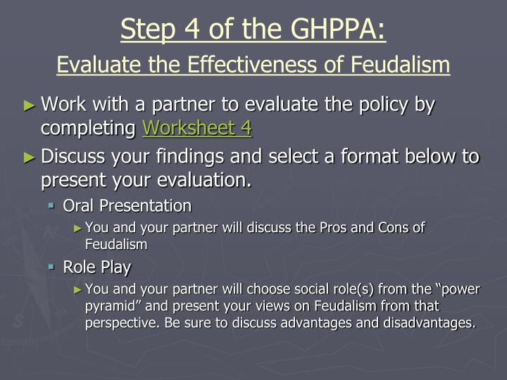 Step 4 of the GHPPA: