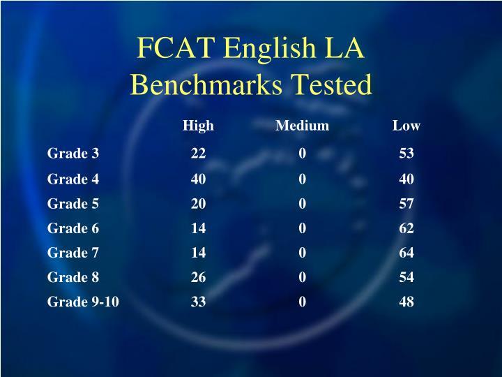 FCAT English LA