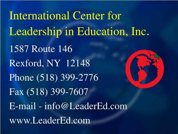 International Center for Leadership in Education, Inc