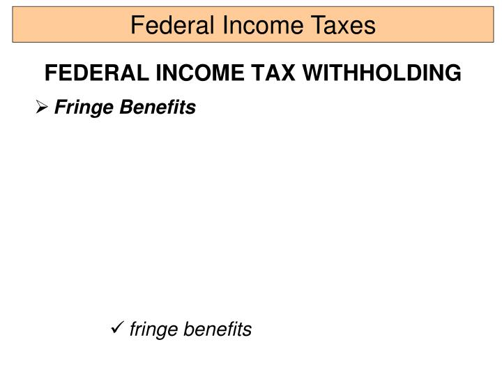Federal Income Taxes