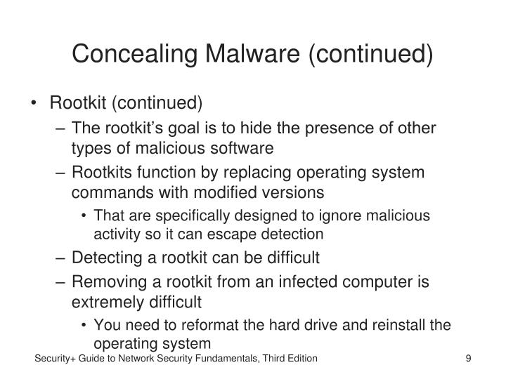 Concealing Malware (continued)