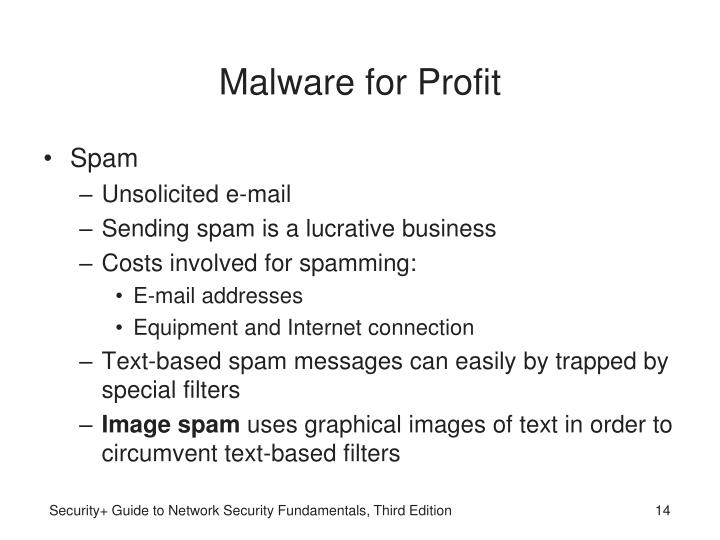 Malware for Profit